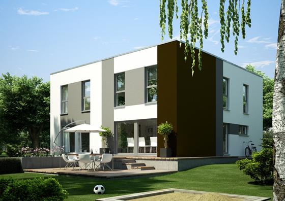 Ein Würfel - zwei bis drei Generationen. Das neue Generationenhaus von OKAL Haus eignet sich besonders für kleinere Grundstücke (Foto: Okal Haus)