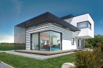 Ein modernes Plusenergiehaus im Bauhausstil trägt der Tendenz zum Einfamilienhaus auf kleinen Grundstücken in der Stadt Rechnung. (Foto: djd/LUXHAUS/F. Lopez)